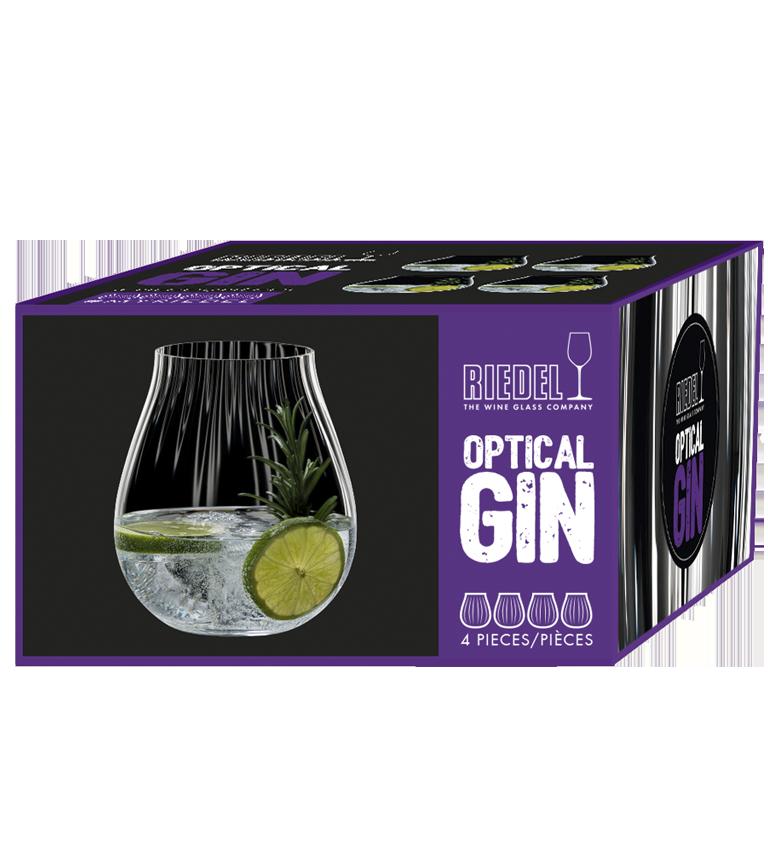 """RIEDEL Gin Optic """"O"""" Set 4 5515/67"""