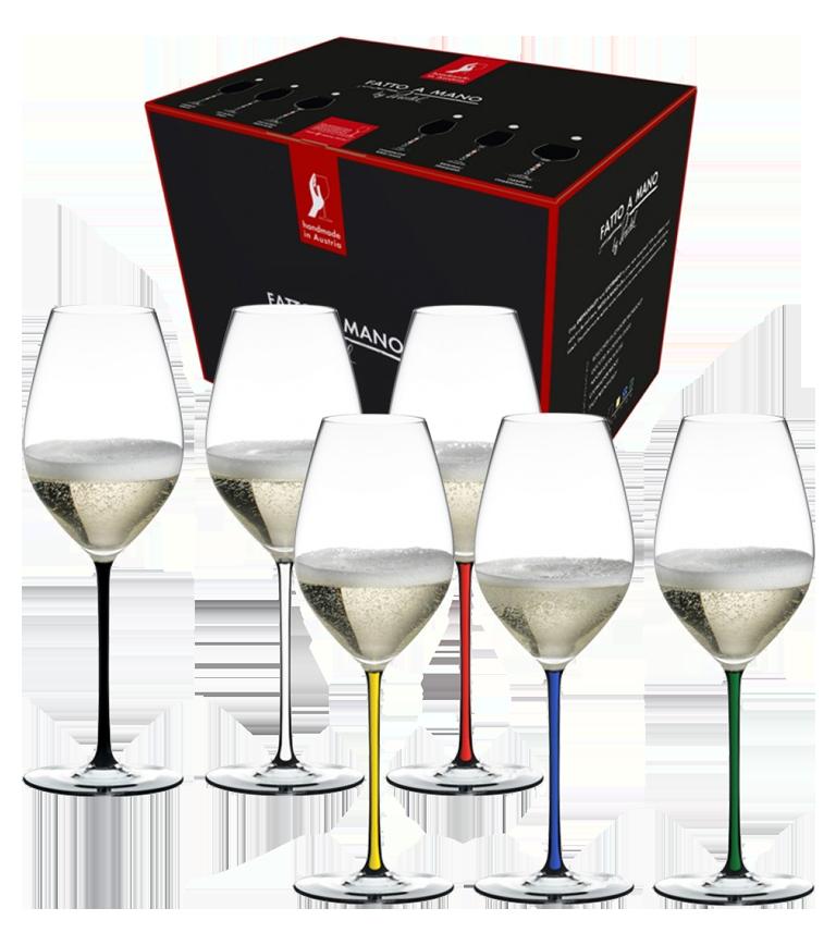 RIEDEL Fatto a Mano Set 6 Champagne 7900/28